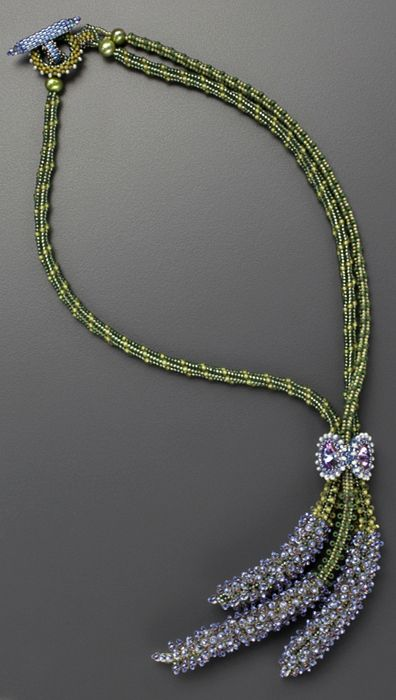 Necklace made by seed bead weaving
