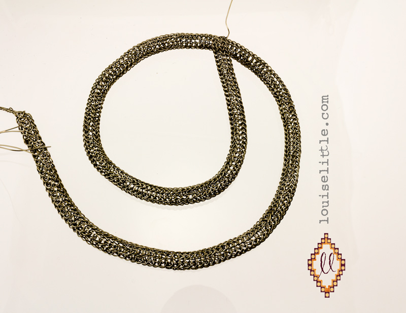 viking knit chain by Louise Little