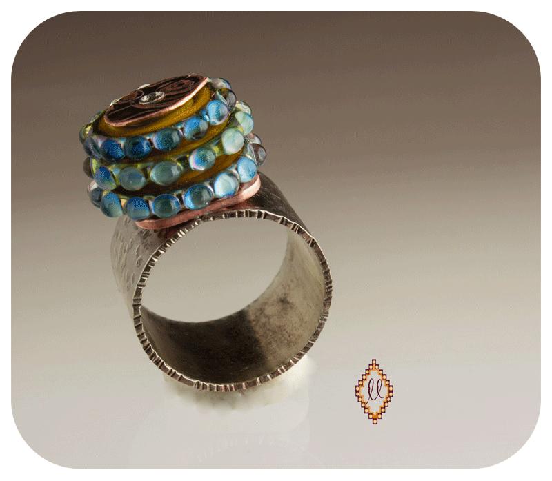 Lampwork Bead ring