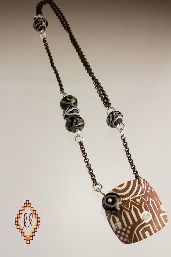 Bi-metal necklace