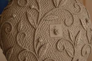 texture on ceramics