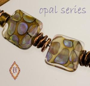 lampwork beads opal series