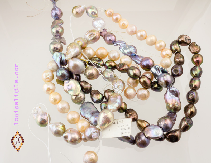 Pearls found at the gem shows