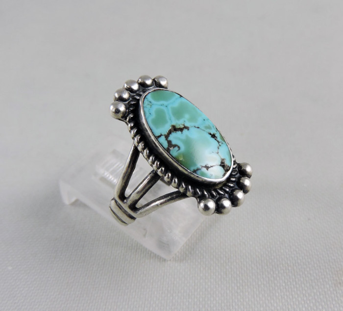 saddle ring with turquoise