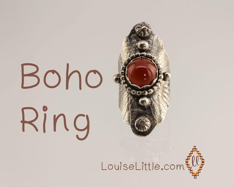 Saddle ring - boho style