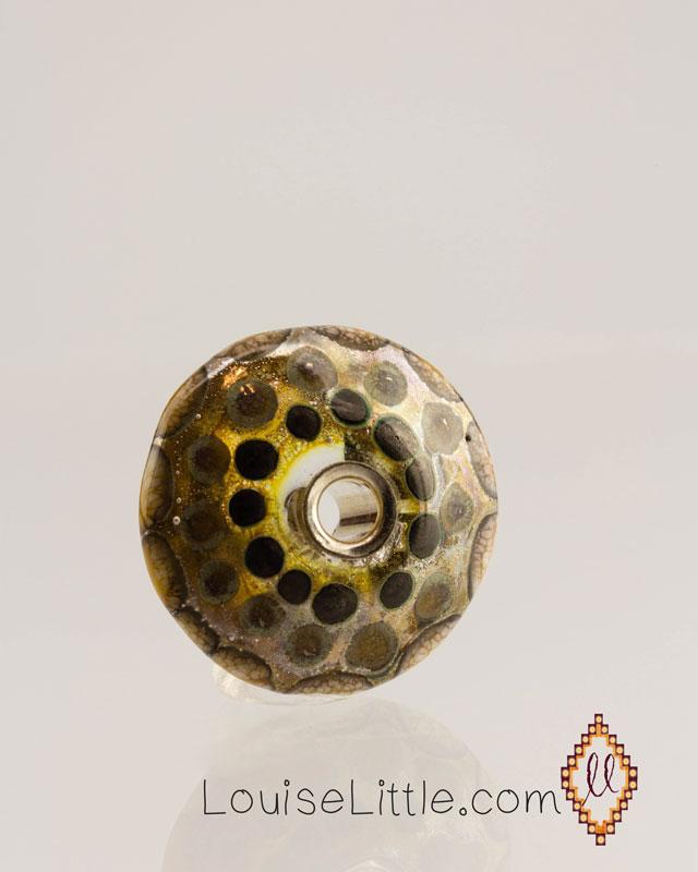Nevada Silver disk bead