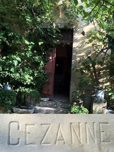 Cezanne studio in Provence