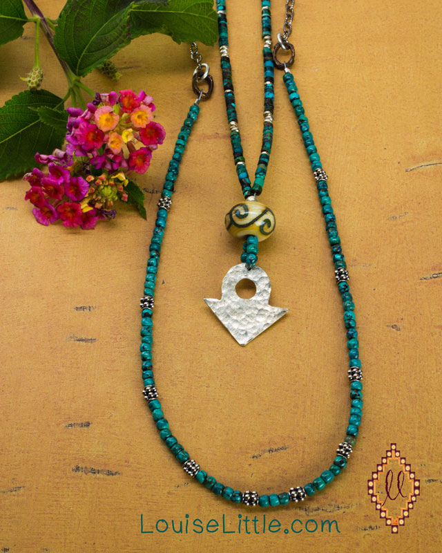 two layered necklaces