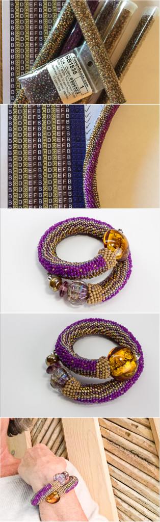 crocheting a bracelet