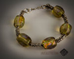 Lampwork Bead Bangle Bracelet