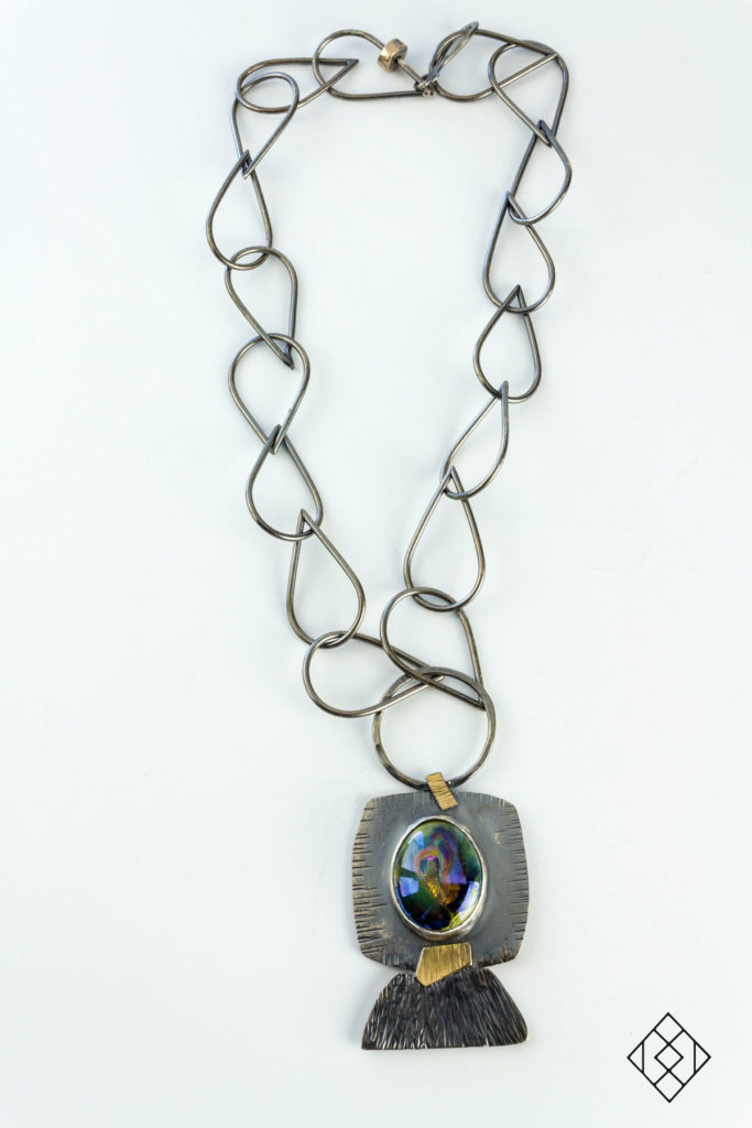 statement-sterling-silver-necklace-lampwork