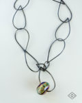 Recherche necklace with hollow lampwork bead