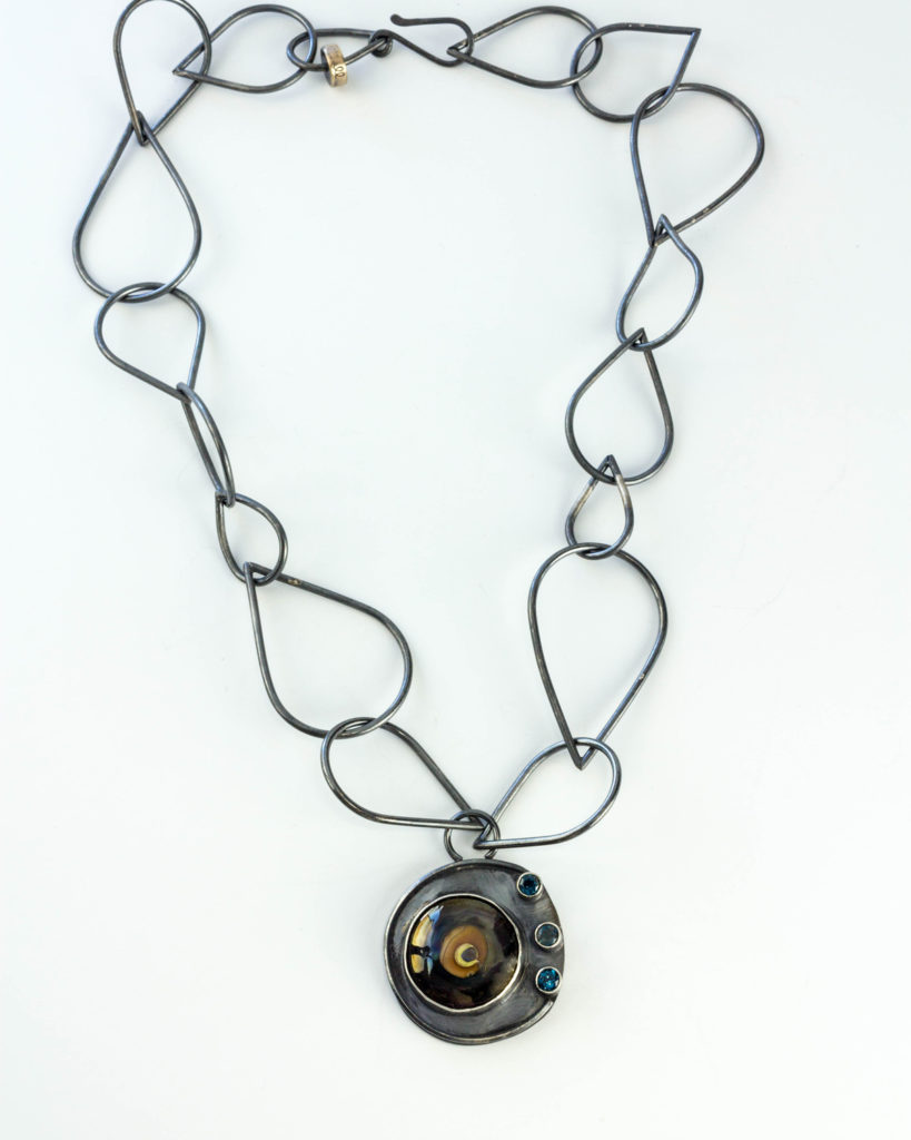 statement-necklace-lampwork-sapphires-sterling-silver